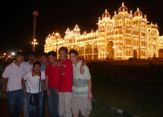 Mysore Palace during the night