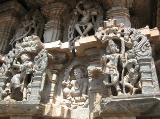 Sculptures at Belur