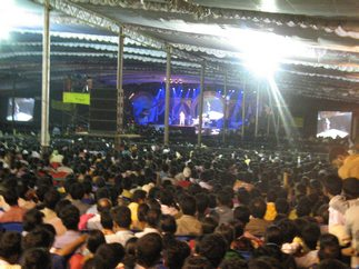 Sonu Nigam performing on stage