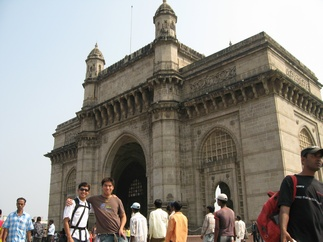 Fu-Wing and me at the Gateway of India