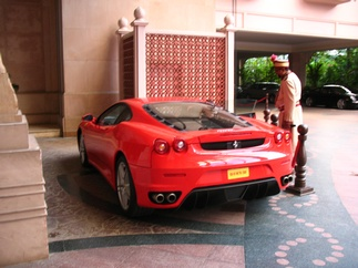 Rear view of the Ferrari