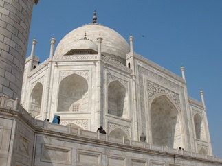 Close to the Taj.